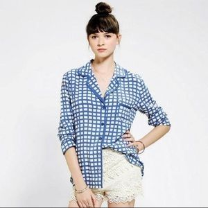 NWT Oh Bubble Piped Pajama blouse (Susie Bubble)